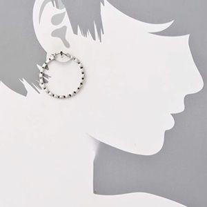 {Club Monaco} Rhinestone Hoop Earrings